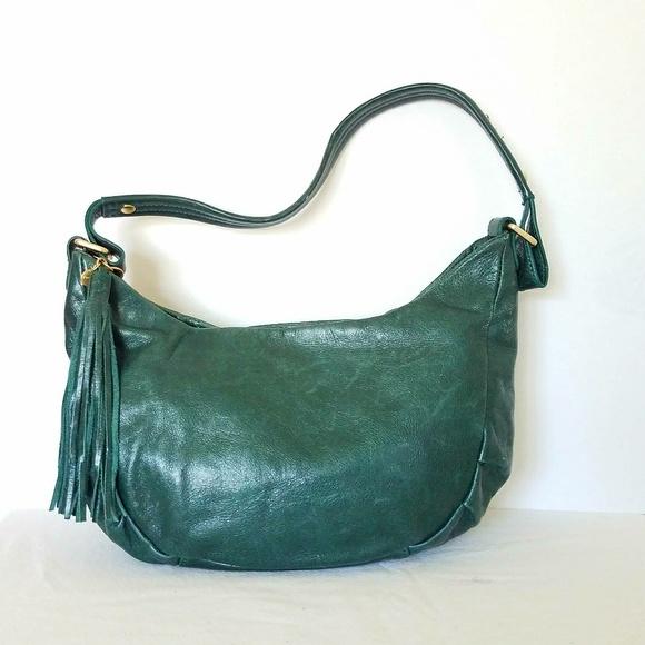 38b0fcfbf6 HOBO Handbags - Hobo international Emerald Leather Hobo Bag EUC